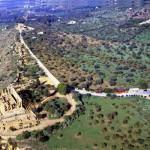 Agrigento - valle dei templi panoramica aerea